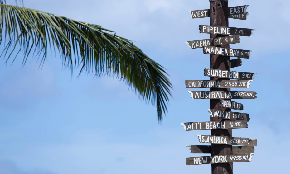 Above: Points around the world from paradise. Image Credit: Anthony Quintano/Flickr
