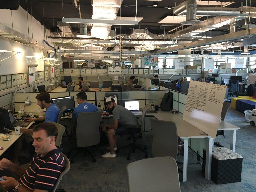The setup at Blue Startups
