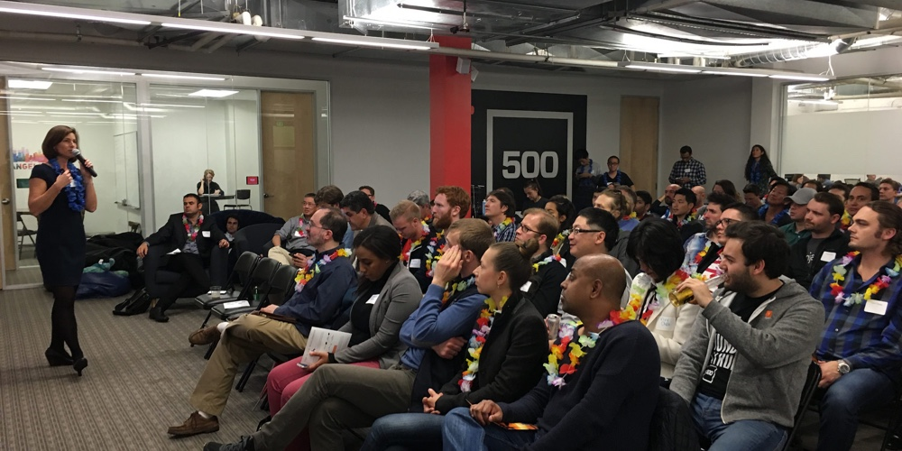 Above: Hawaii-based Blue Startups brought its portfolio companies to San Francisco in 2016 to demo for investors.Image Credit: Ryan Ozawa